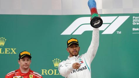 Vettel was ahead of Hamilton and won the pole in Baku