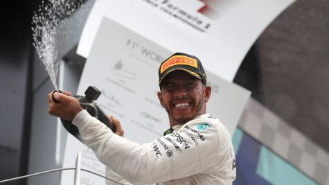 Lewis Hamilton ahead of Sebastian Vettel in British Grand Prix practice