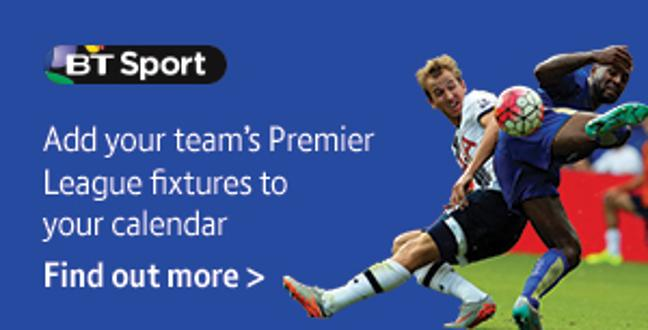 Add your team's Premier League fixtures to your calendar