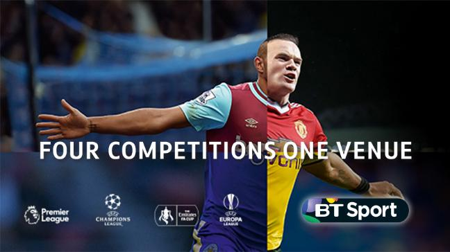 Sign up to BT Sport, the only place to show all four major competitions
