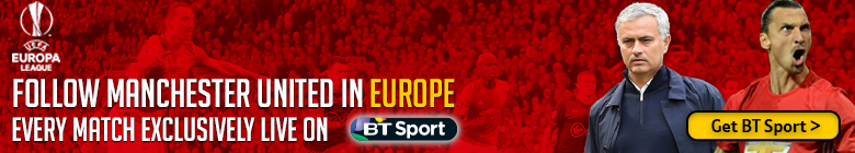 Watch Manchester United in the UEFA Europa League exclusively live on BT Sport