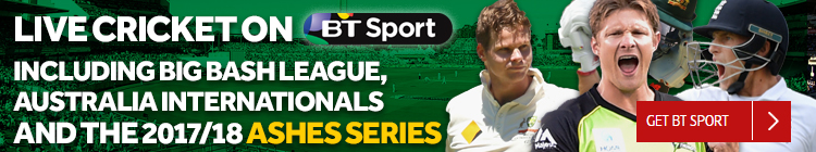 Watch live cricket including Big Bash League, Australia internationals and the 2017/18 Ashes Series exclusively on BT Sport