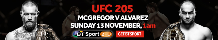 Watch UFC 205 exclusively live on BT Sport