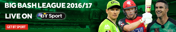 Watch the Big Bash League 2016/17 exclusively on BT Sport