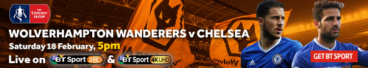 Watch Wolves v Chelsea exclusively on BT Sport