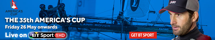 Watch America's Cup sailing live on BT Sport