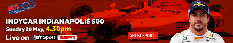 Watch the Indy 500 live on BT Sport