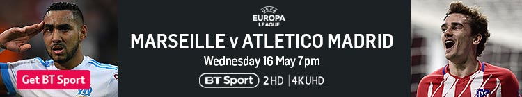 Join now to watch the Europa League final exclusively live on BT Sport