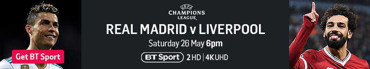 Join now to watch the Champions League final exclusively live on BT Sport