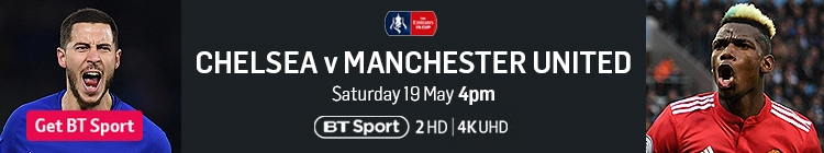 Join now to watch the FA Cup final live on BT Sport