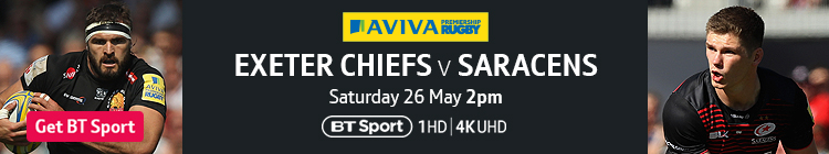Join now to watch the Aviva Premiership final exclusively live on BT Sport