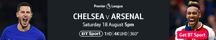 Join now to watch Chelsea v Arsenal exclusively live on BT Sport