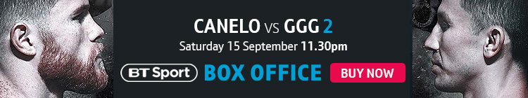 Watch Canelo vs GGG 2 exclusively live on BT Sport Box Office HD