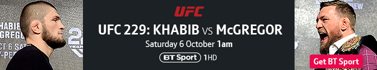 Join now to watch UFC 229: Khabib vs McGregor exclusively live on BT Sport