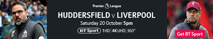Join now to watch Huddersfield v Liverpool on BT Sport