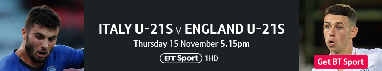 Join now to watch Italy U21s v England U21s on BT Sport