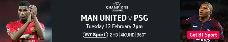 Join now to watch Man Utd v PSG on BT Sport