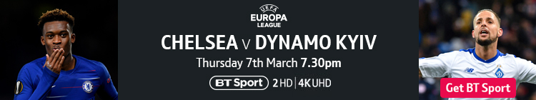 Join now to watch Chelsea v Dynamo Kyiv live on BT Sport