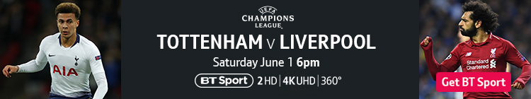 Join now to watch Tottenham v Liverpool on BT Sport