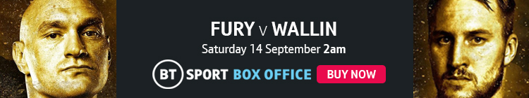 Watch Tyson Fury v Otto Wallin exclusively live on BT Sport Box Office