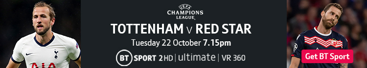 Join now to watch Spurs v Red Star on BT Sport