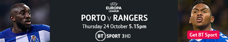 Join now to watch Porto v Rangers on BT Sport