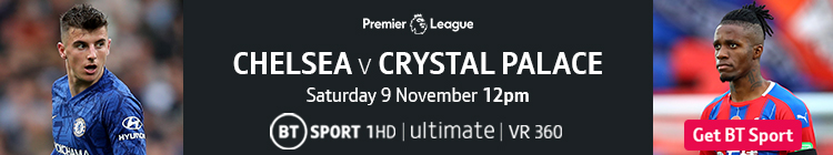 Join now to watch Chelsea v Crystal Palace on BT Sport