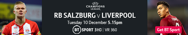 Join now to watch Salzburg v Liverpool on BT Sport