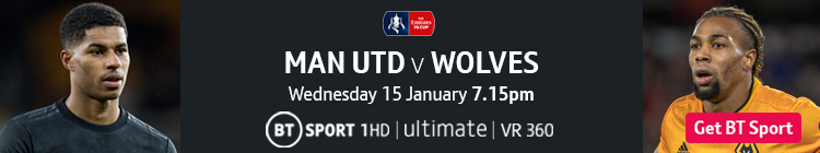 Join now to watch Man Utd v Wolves on BT Sport