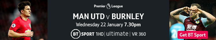Join now to watch Man Utd v Burnley on BT Sport