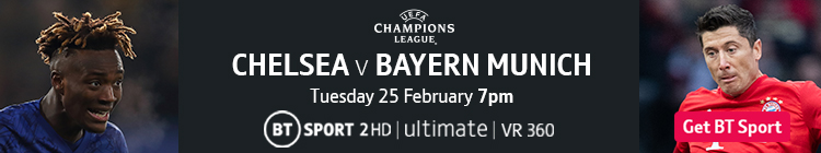 Join now to watch Chelsea v Bayern Munich on BT Sport