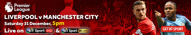 Liverpool v manchester city live stream premier league football online or watch on tv with bt - Manchester city vs liverpool live stream ...