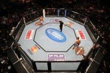 An aerial view of the UFC's Octagon (UFC/Getty Images)