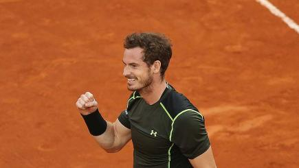 Andy Murray celebrates winning the Madrid Masters