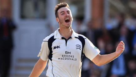Toby Roland-Jones' hat-trick seals County Championship title for Middlesex