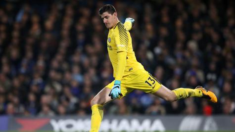 Antonio Conte tight-lipped over Thibaut Courtois contract talks at Chelsea