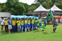 Celebrations during the Street Child World Cup in Brazil
