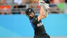Kane Williamson showed nerves of steel as he hit a six to win the match for New Zealand (AP)
