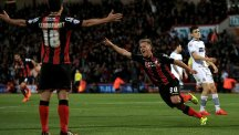 Bournemouth's Matt Ritchie, pictured right, scored the second goal against Bolton