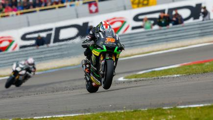 Bradley Smith in action at the Dutch MotoGP in Assen