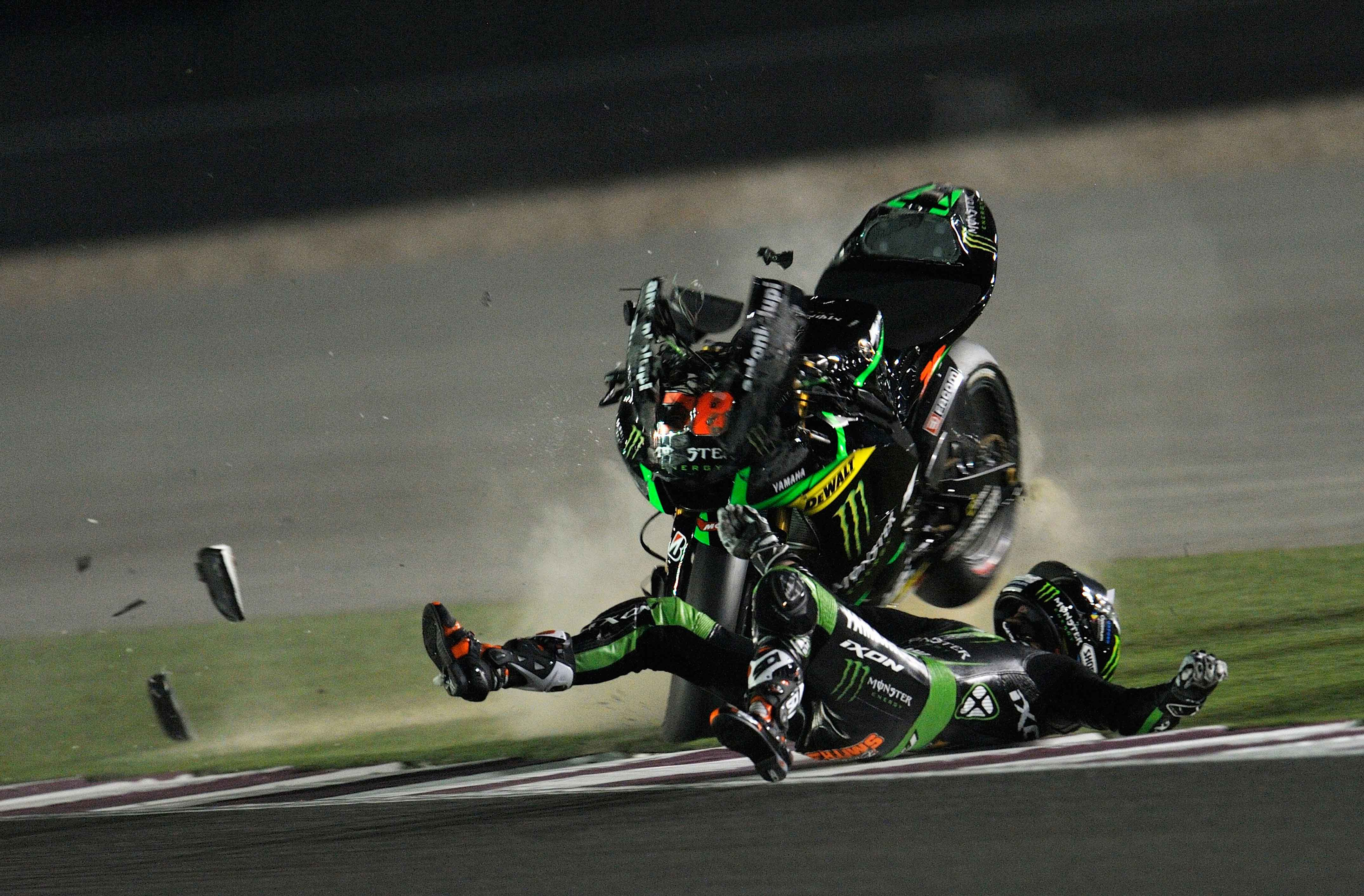 MotoGP in pictures: Bradley Smith's spectacular high-side