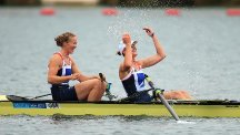 Olympic champions Helen Glover and Heather Stanning clinched gold in Holland
