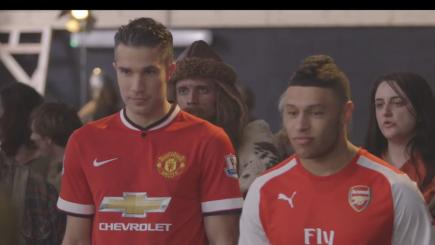 BT ad with Oxlade Chamberlain and Robin van Persie