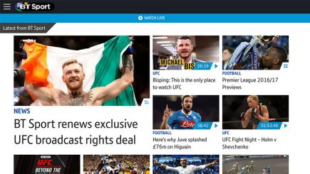 Check out BT Sport's new-look app - free on EE!