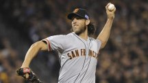 Madison Bumgarner stood out for the San Francisco Giants (AP)