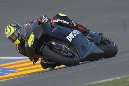 Cal Crutchlow puts the Ducati through its paces