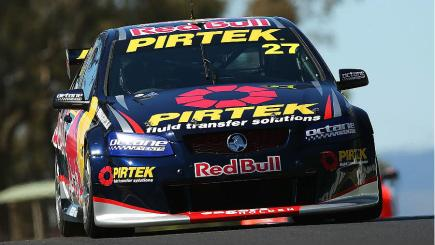 Casey Stoner drives in the Dunlop V8 series