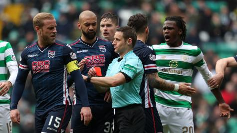 Celtic boss Rodgers criticises 'disgraceful' challenge by Davies