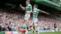 James Forrest, left, scored Celtic's second