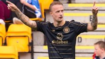 Leigh Griffiths celebrates his 26th birthday by scoring the opening goal